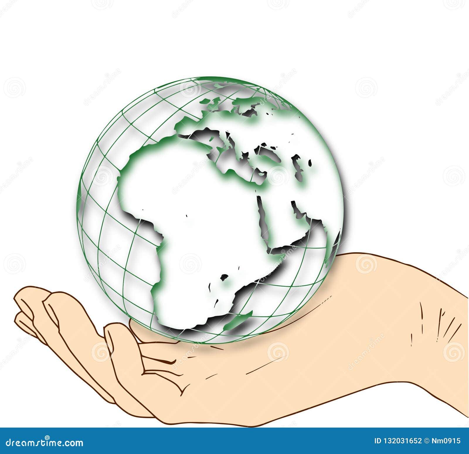Monde dans votre main - hémisphère oriental