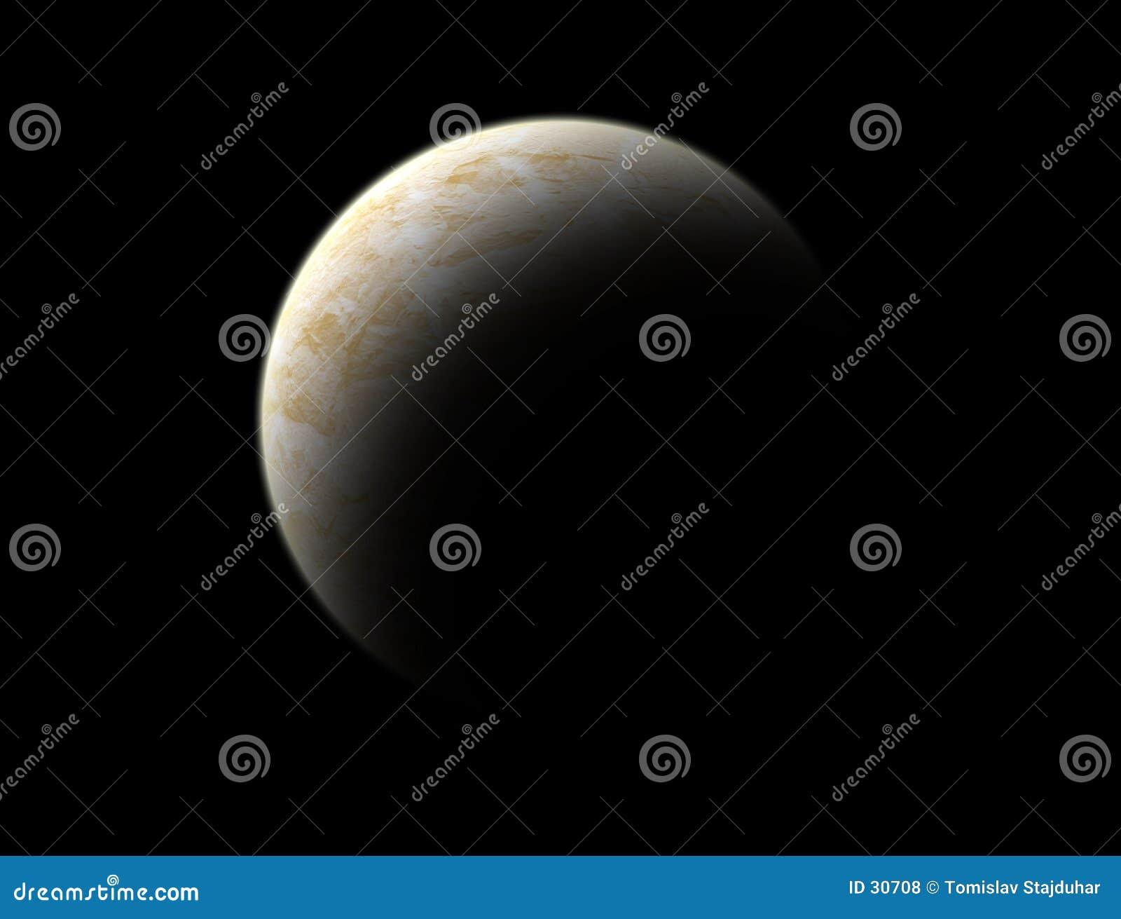 Monde de planète là-bas