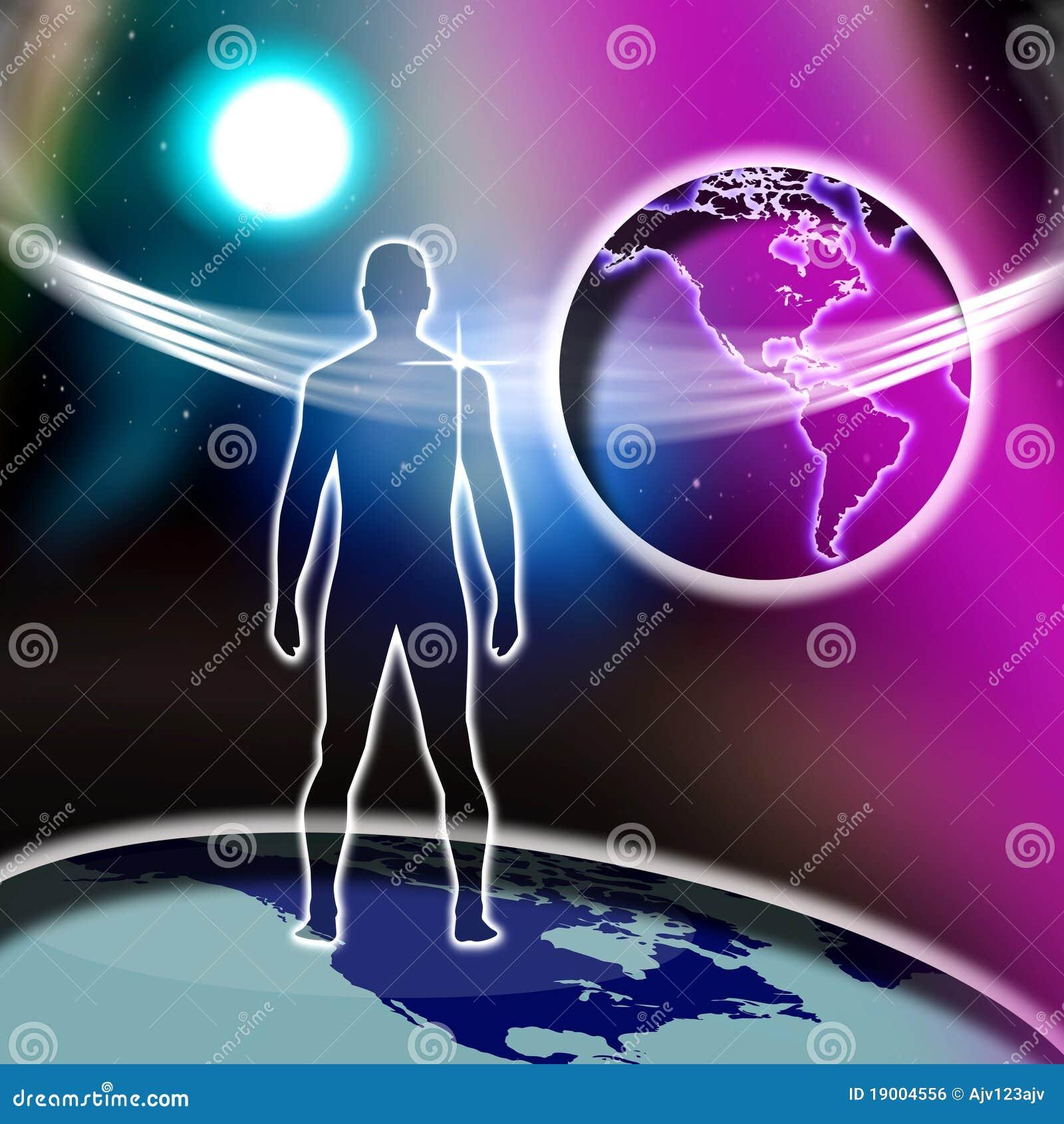Monde en travers spirituel de foi d homme