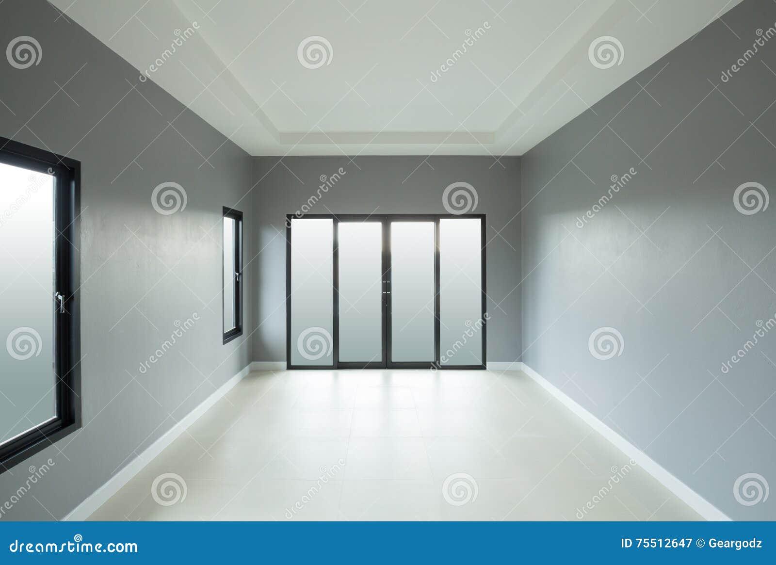 Mondern Empty Room With Window And Door Stock Image ...