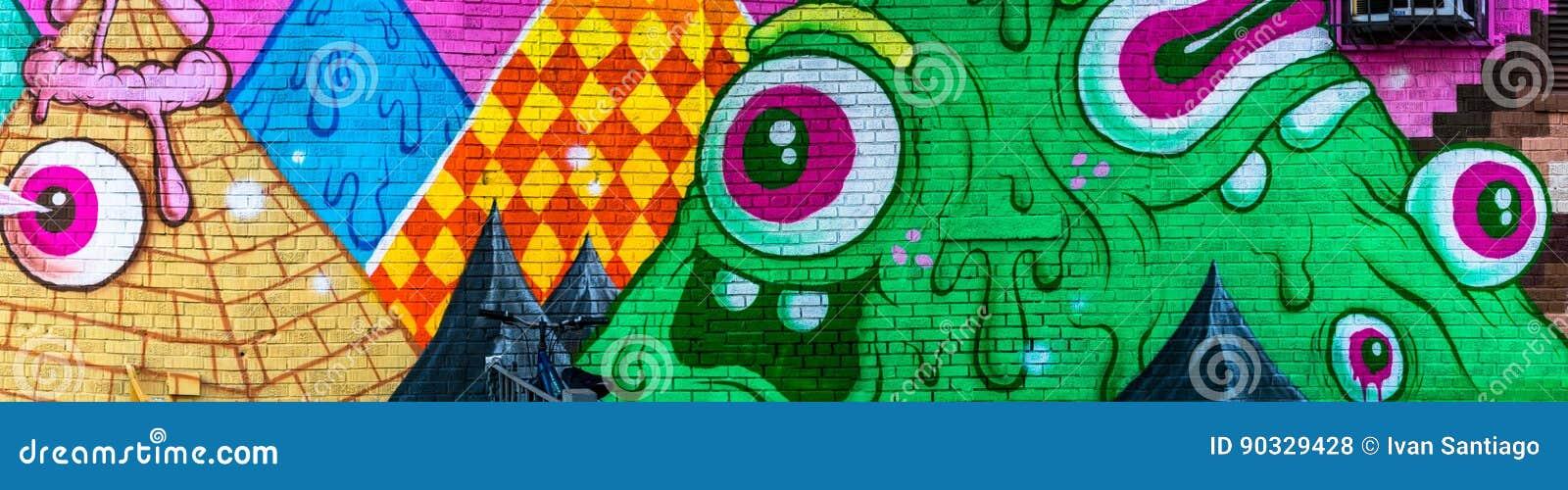 Mondo astratto variopinto dei graffiti