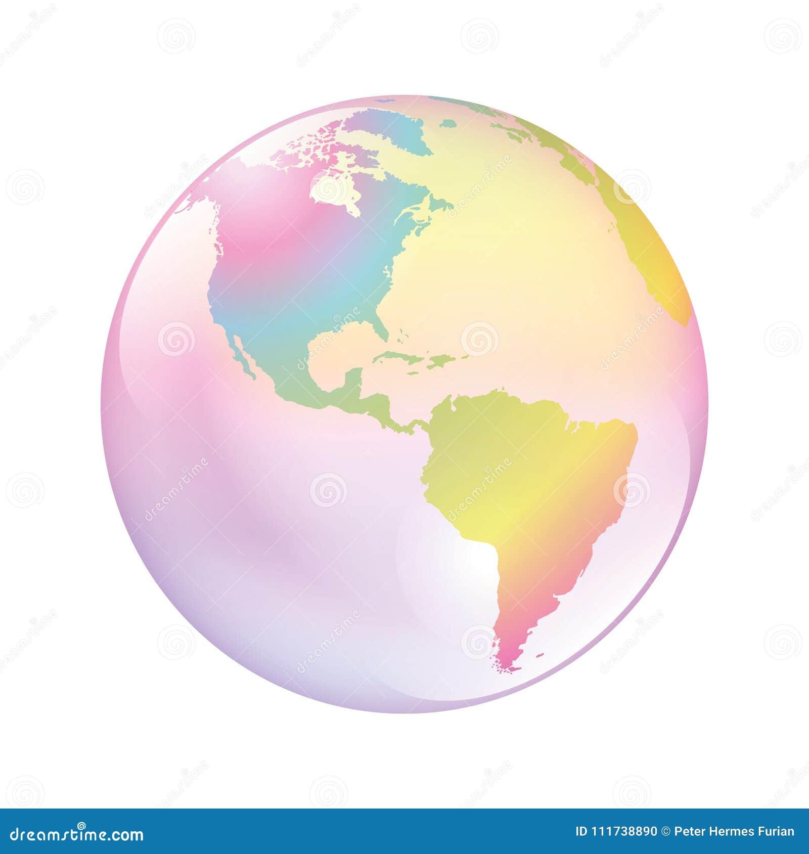 Mondo della bolla della terra