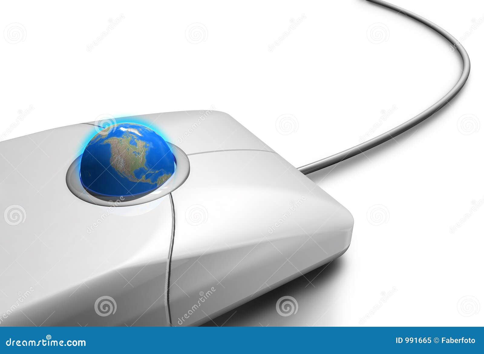 Mondo di tocco del mouse uno immagine stock immagine di - Immagine del mouse a colori ...