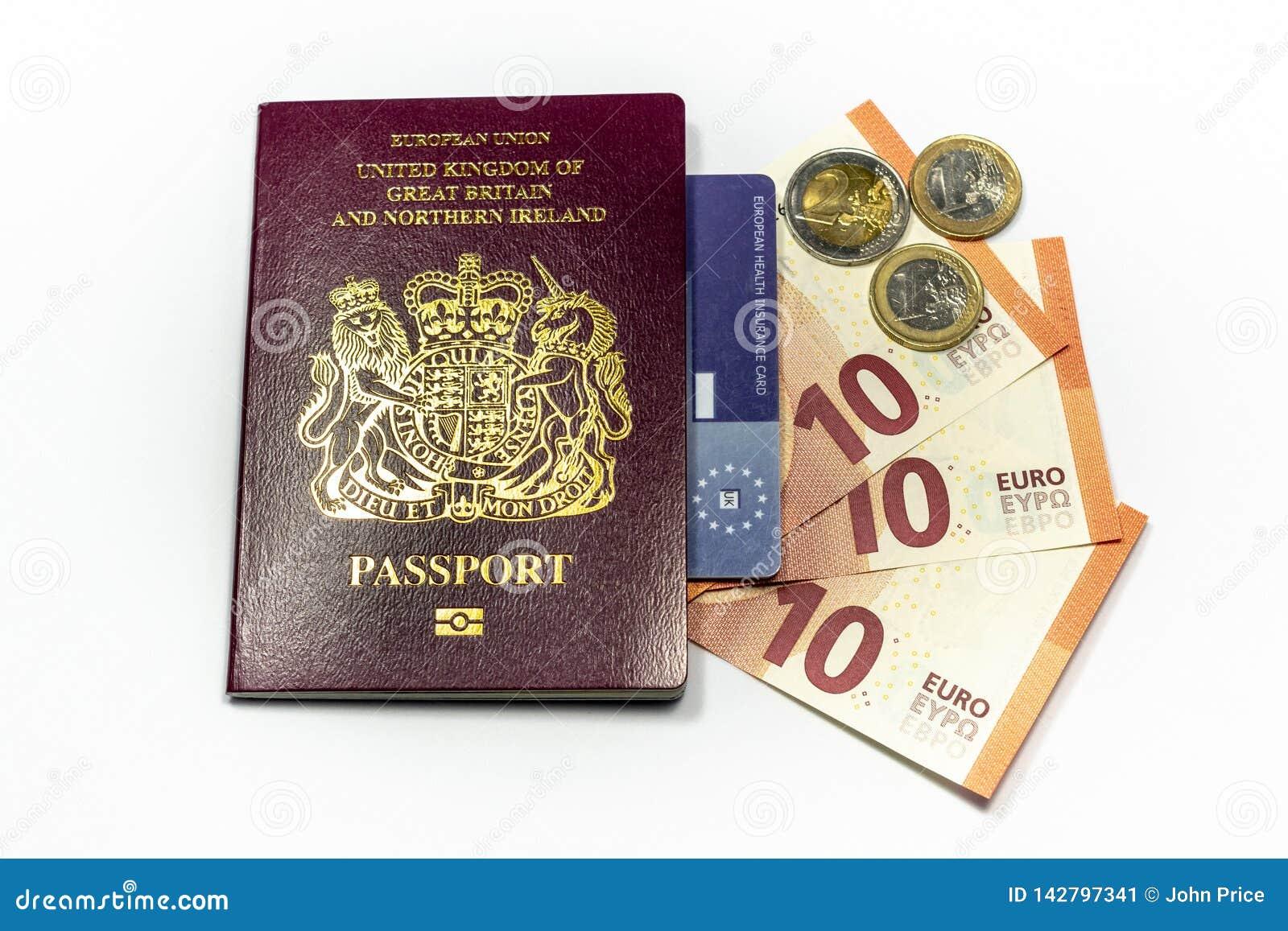 Moneda biom?trica del pasaporte y del euro de Reino Unido