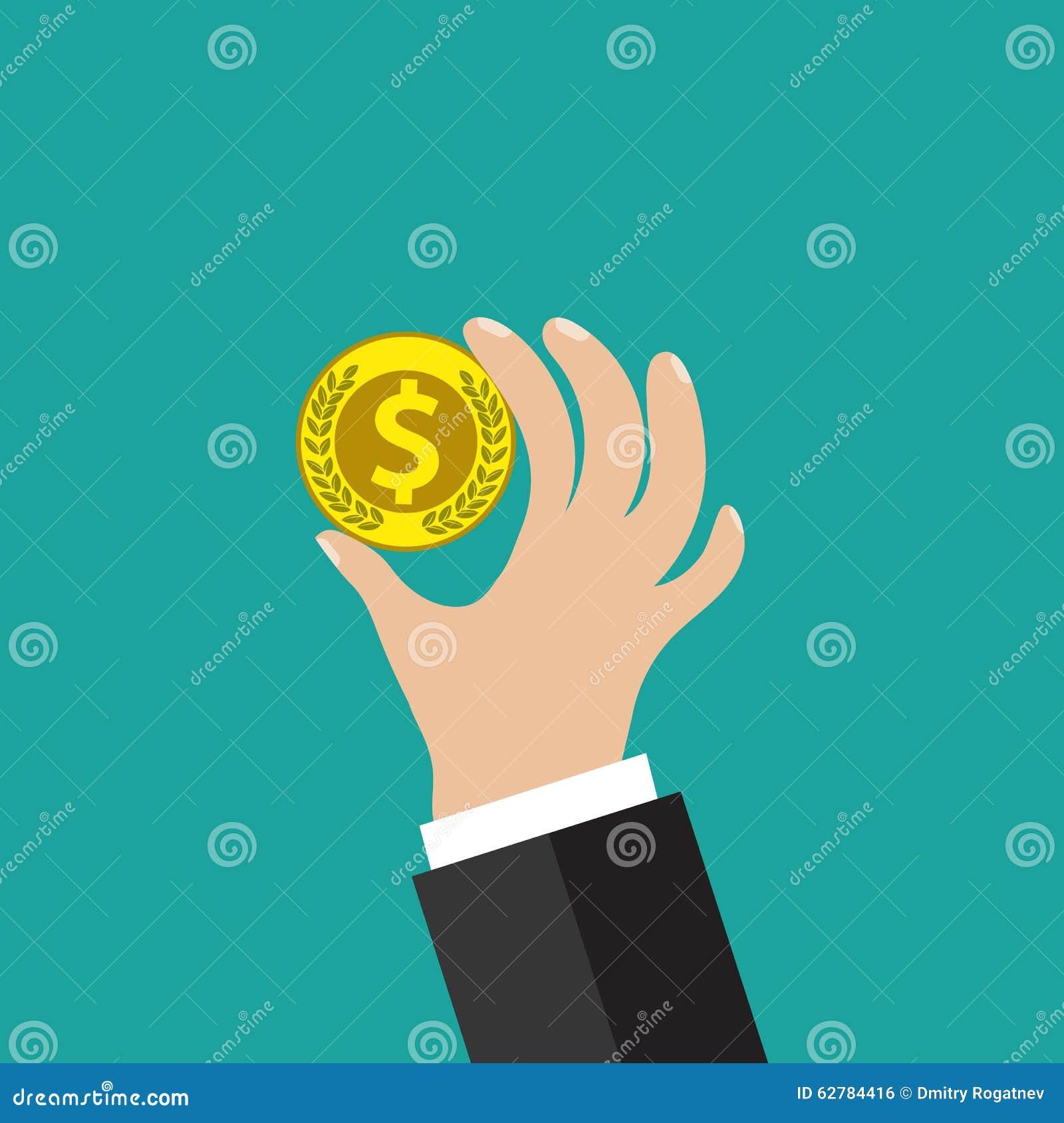 Moneda de oro a disposición