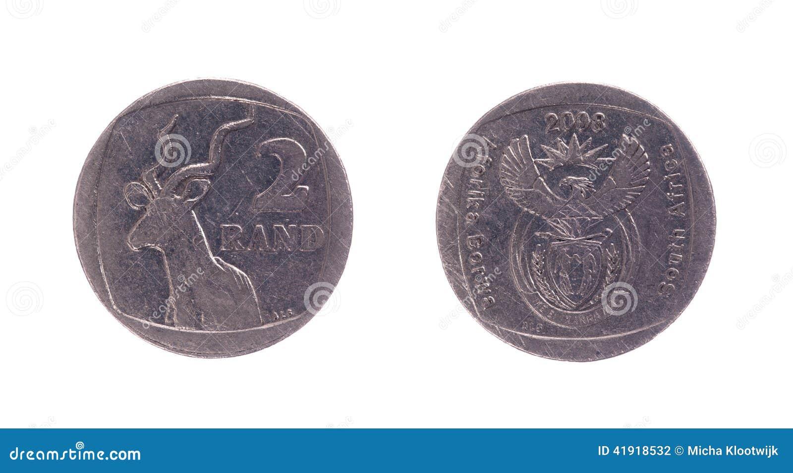 Moneda de 2 randes sudafricanos