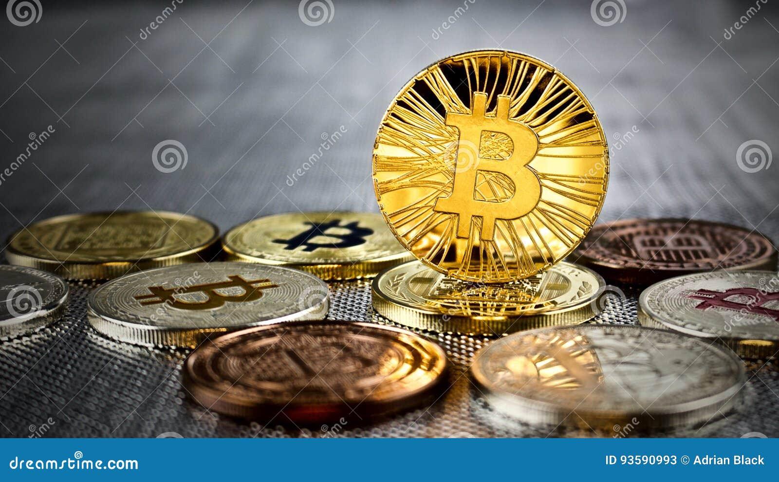 Moneda del bitcoin del oro