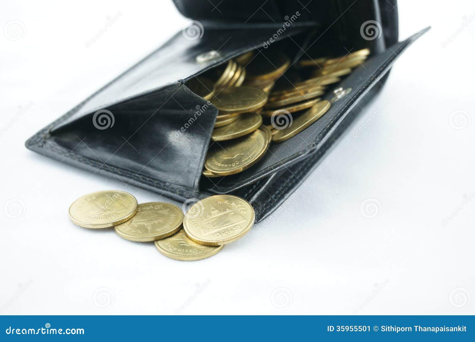 Moneda llena del bolsillo