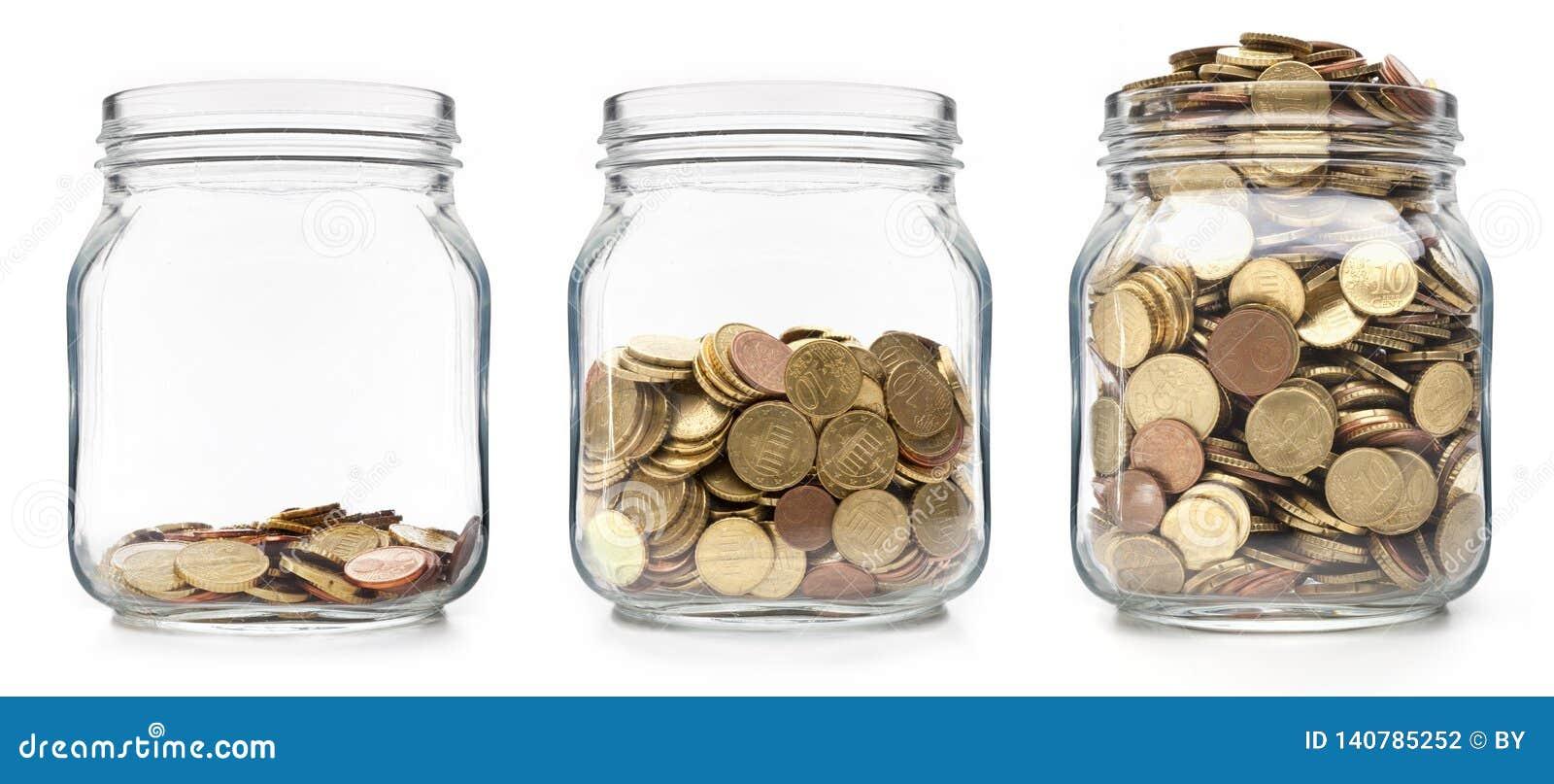 Monedas crecientes en vidrios