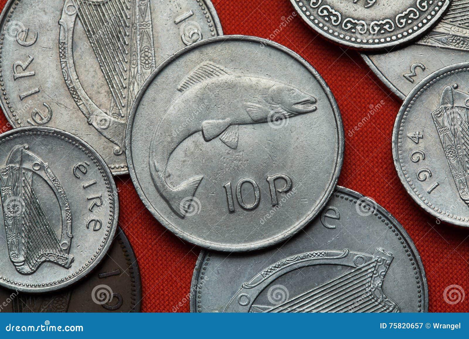 Monedas de Irlanda Salmones