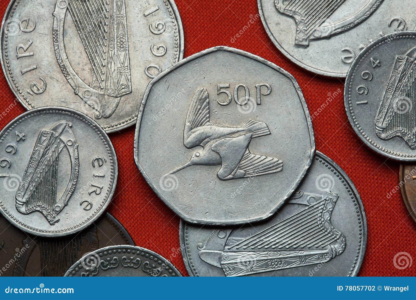 Monedas de Irlanda woodcock