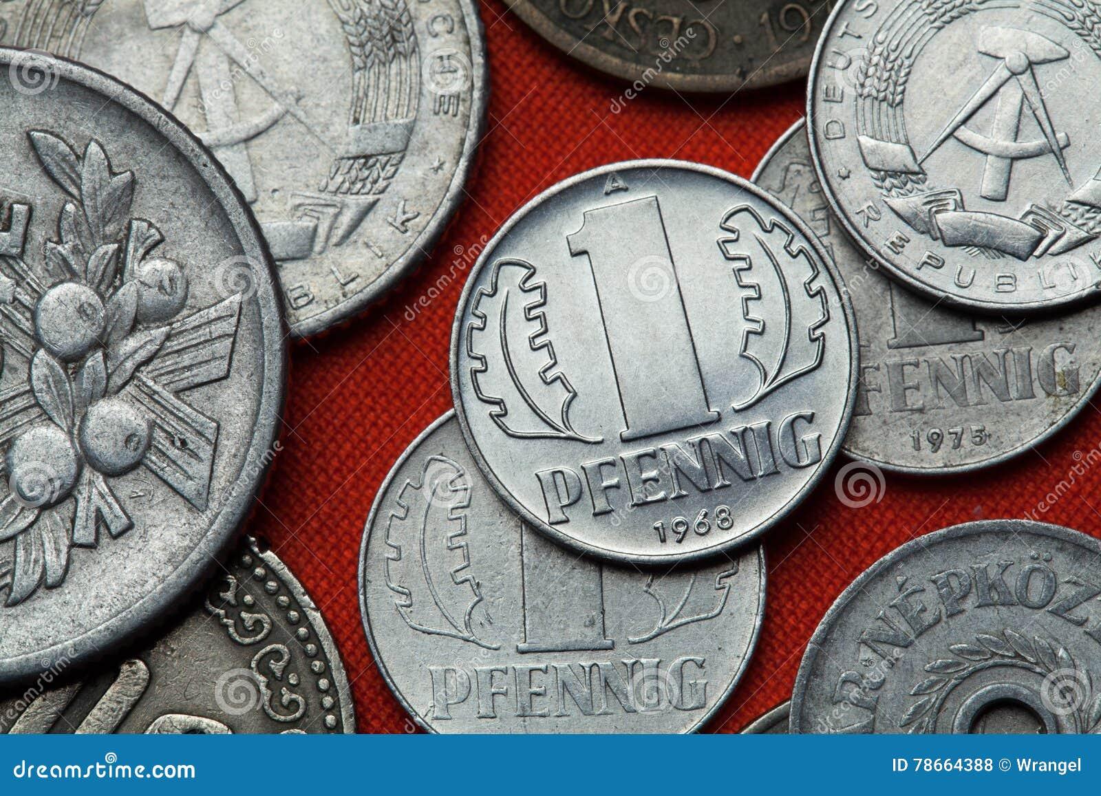 Monedas de la República Democrática Alemana y del x28; La Alemania Oriental y x29;