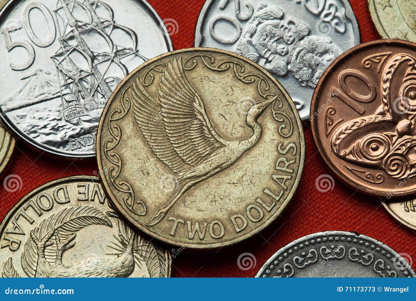 Monedas de Nueva Zelanda Gran garceta del este (modesta alba del Ardea)