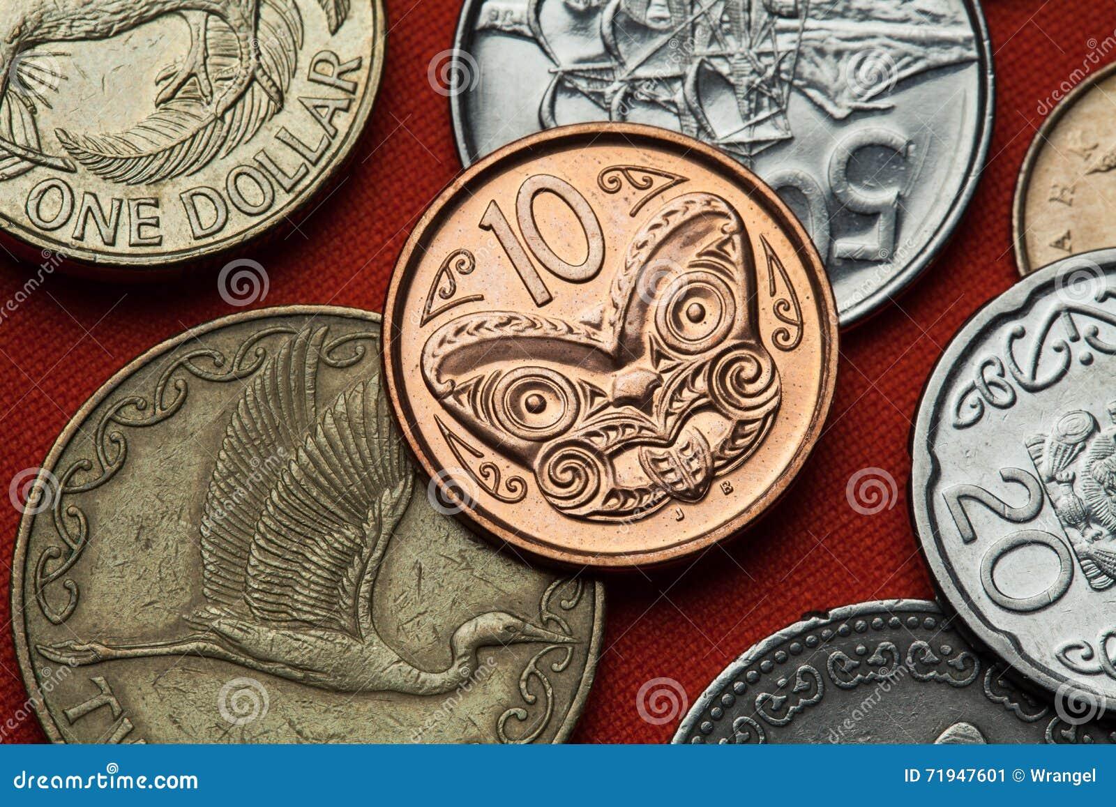 Monedas de Nueva Zelanda Talla maorí