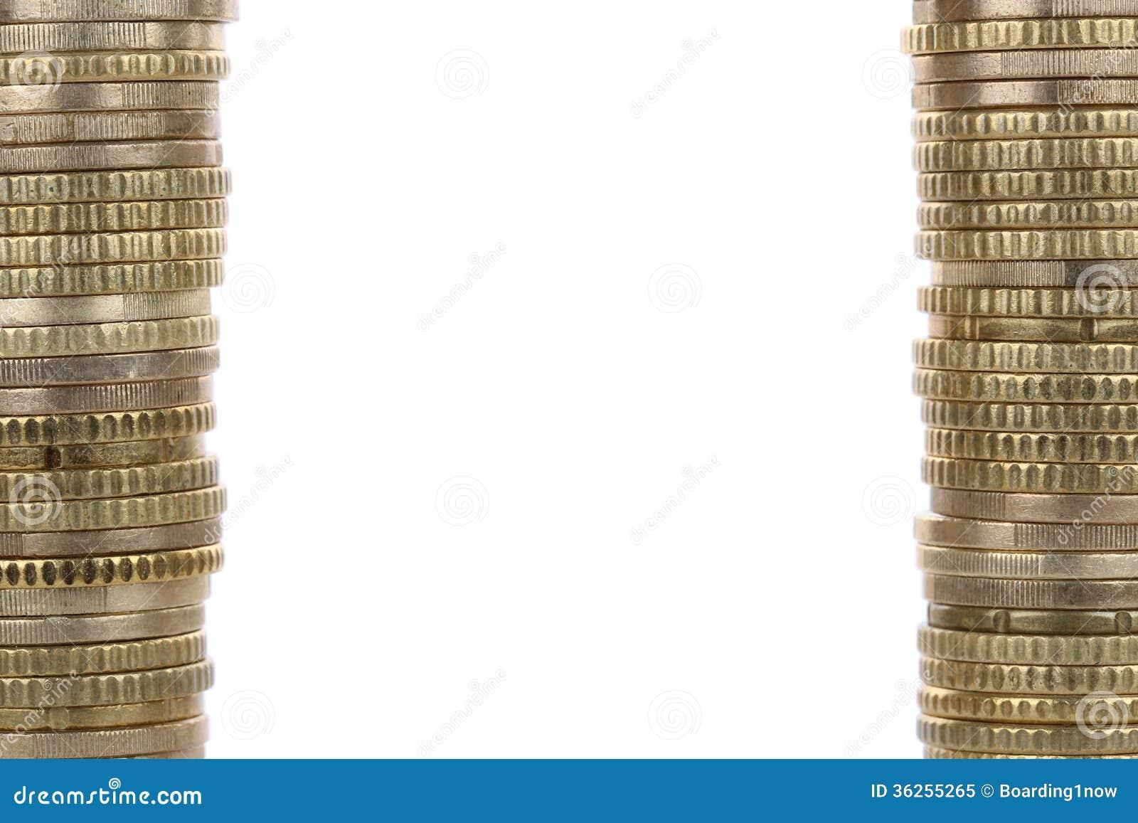 Monedas De Oro Que Forman Un Marco Imagen de archivo - Imagen de ...
