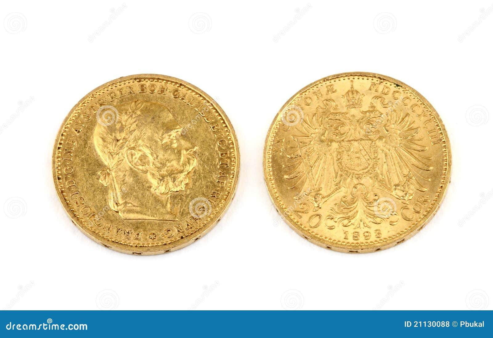 Monedas de oro viejo