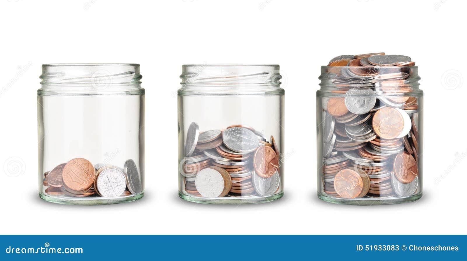 Monedas de tarros