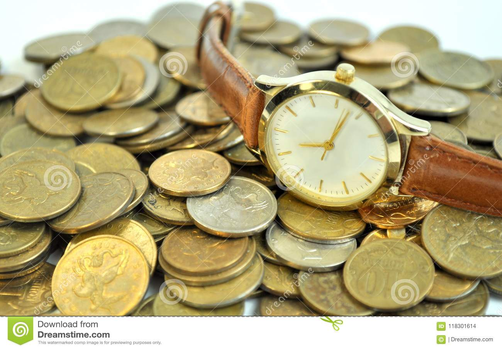 Monedas del dinero del tiempo