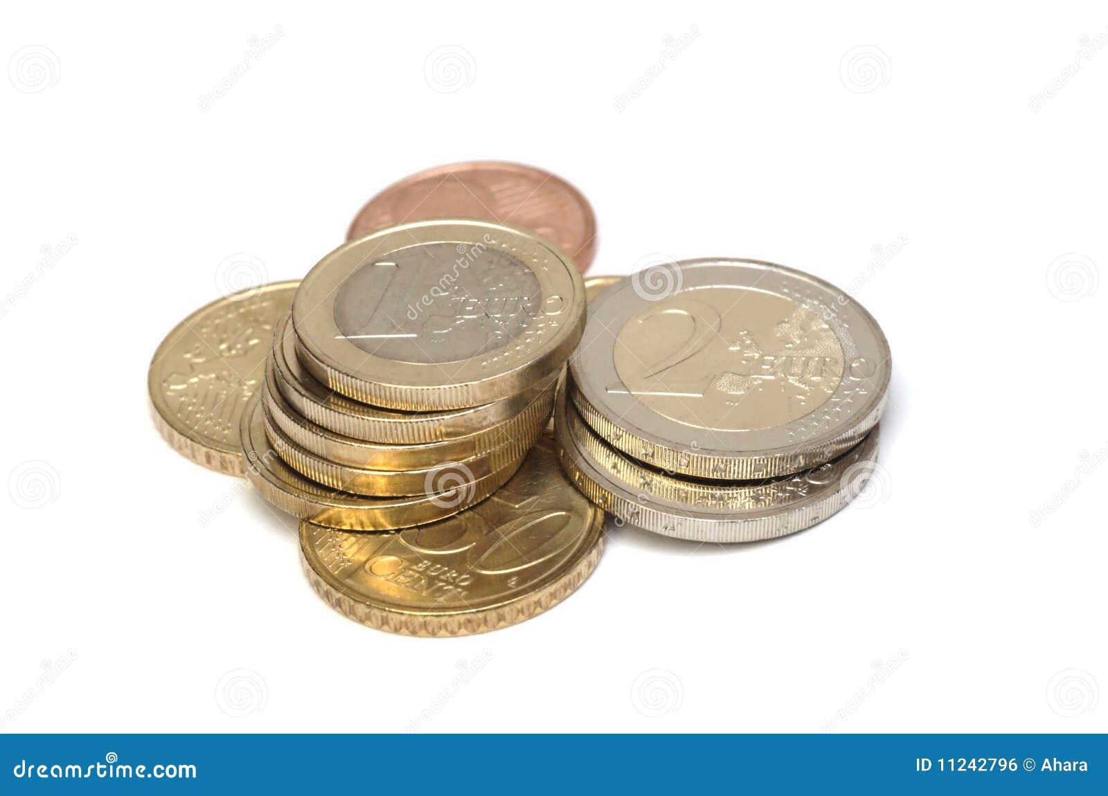 Monedas euro aisladas
