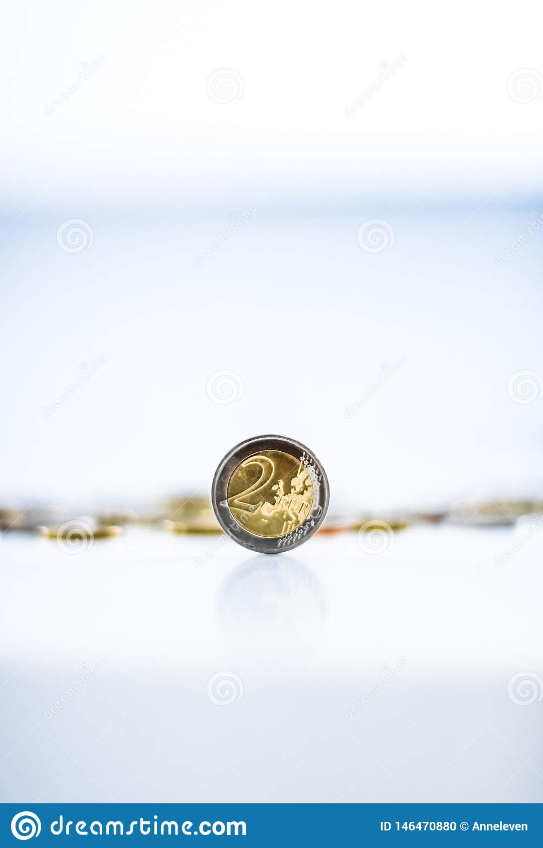 Monedas euro, moneda de la uni?n europea