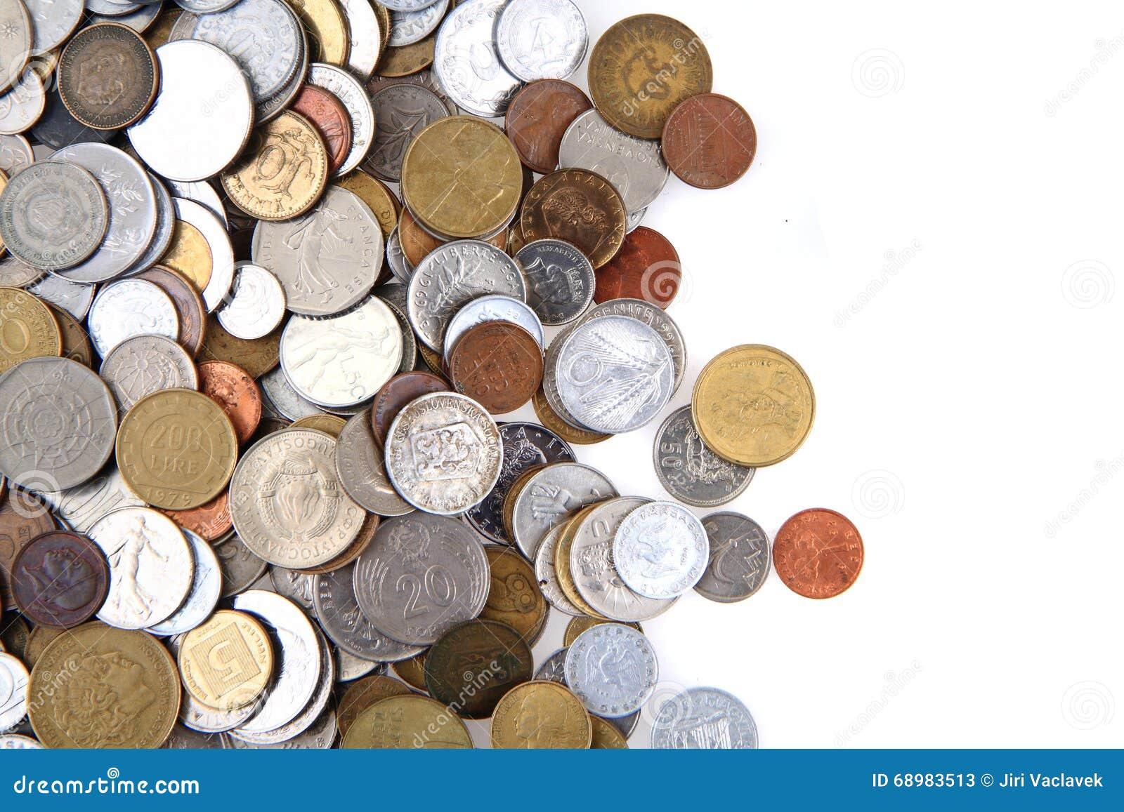 Monedas europeas viejas