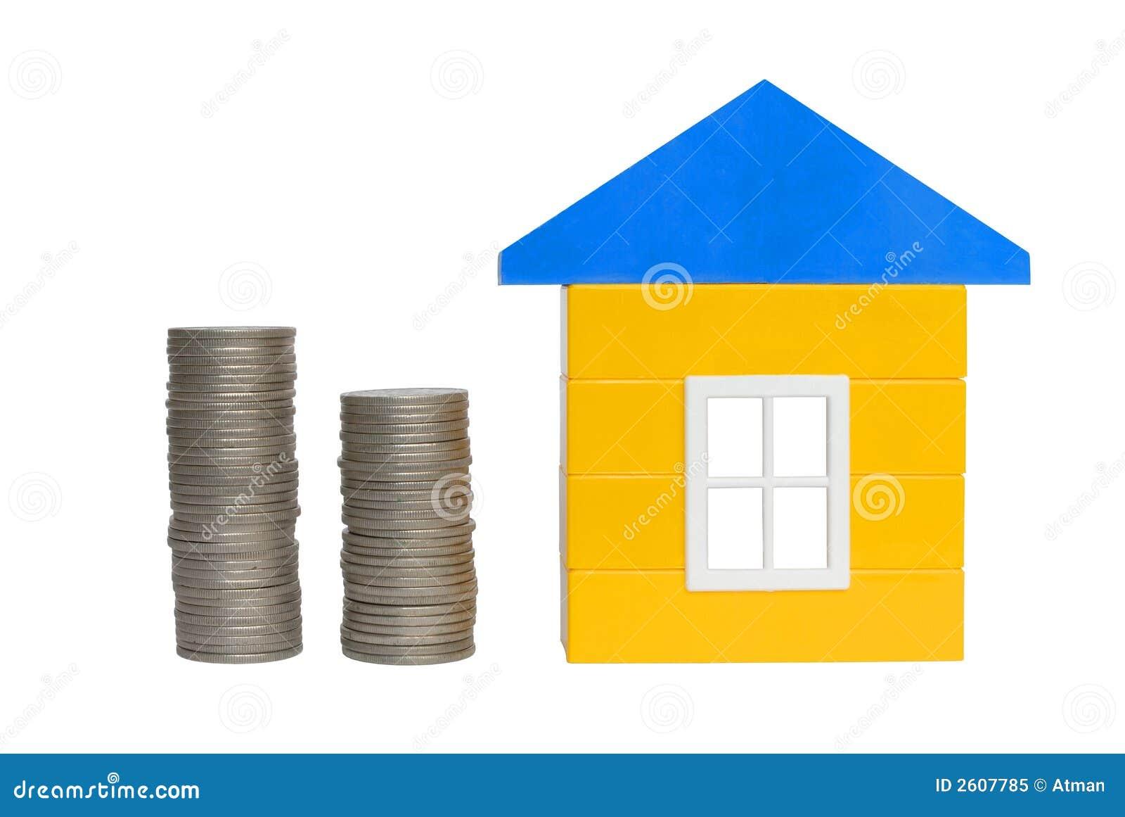 Monedas y casa