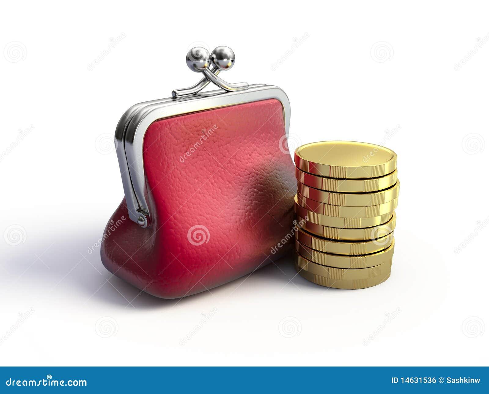 ventas calientes barato mejor valorado imágenes detalladas Monedero y monedas stock de ilustración. Ilustración de ...