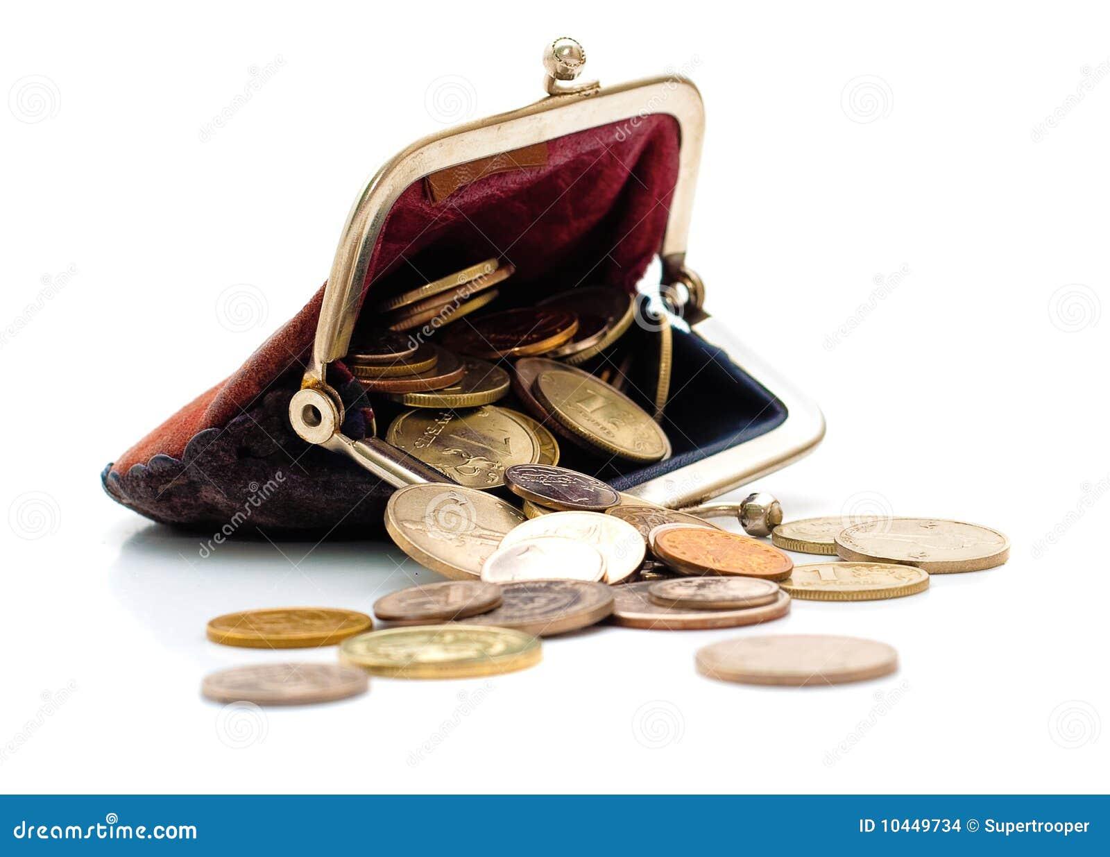comprando ahora mas bajo precio el precio más baratas Monedero Y Monedas Aislados Foto de archivo - Imagen de ...