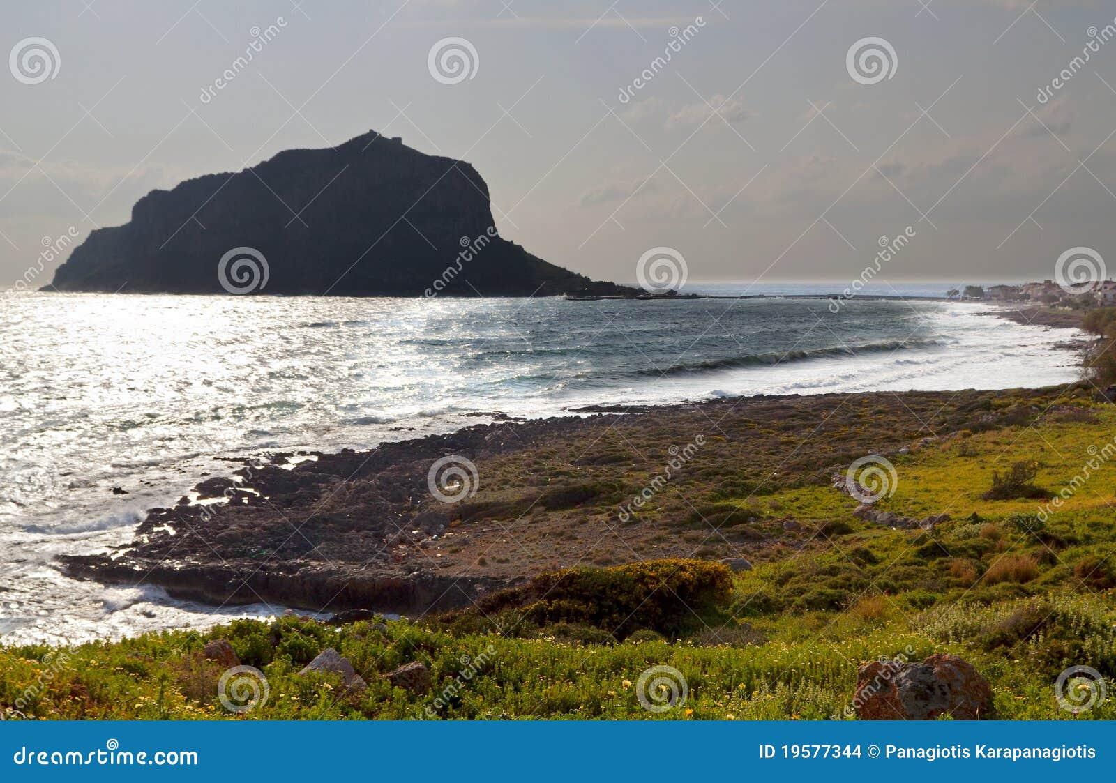 Monemvasia en peloponeso en grecia imagenes de archivo - Bater roca precios ...