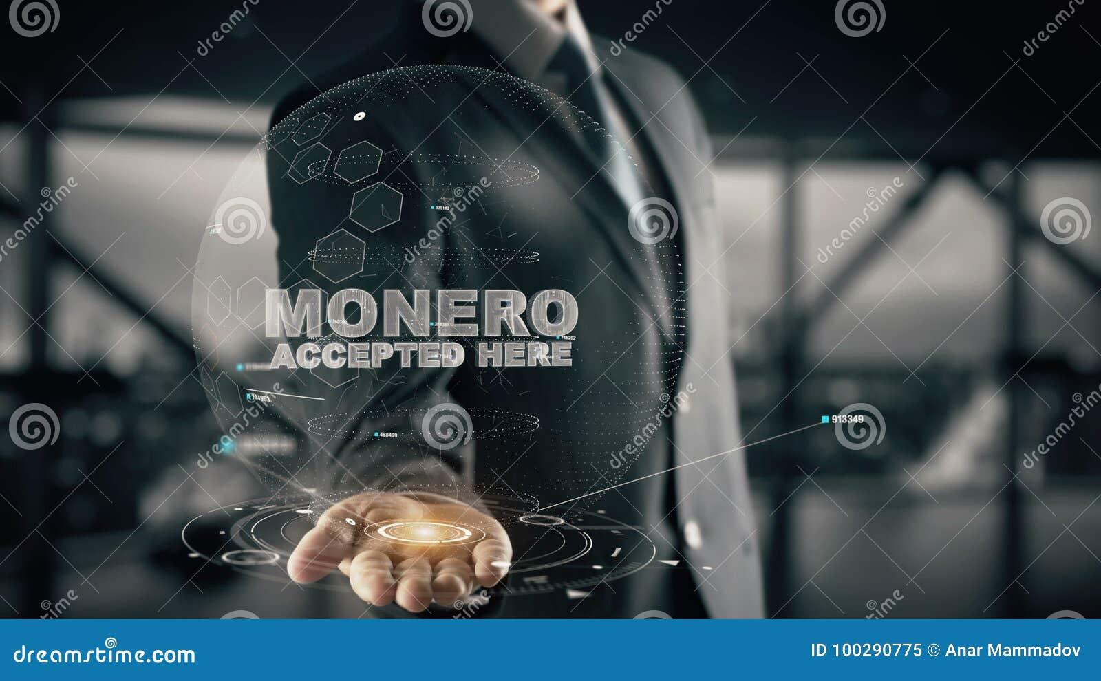 Monero keurde hier met het concept van de hologramzakenman goed