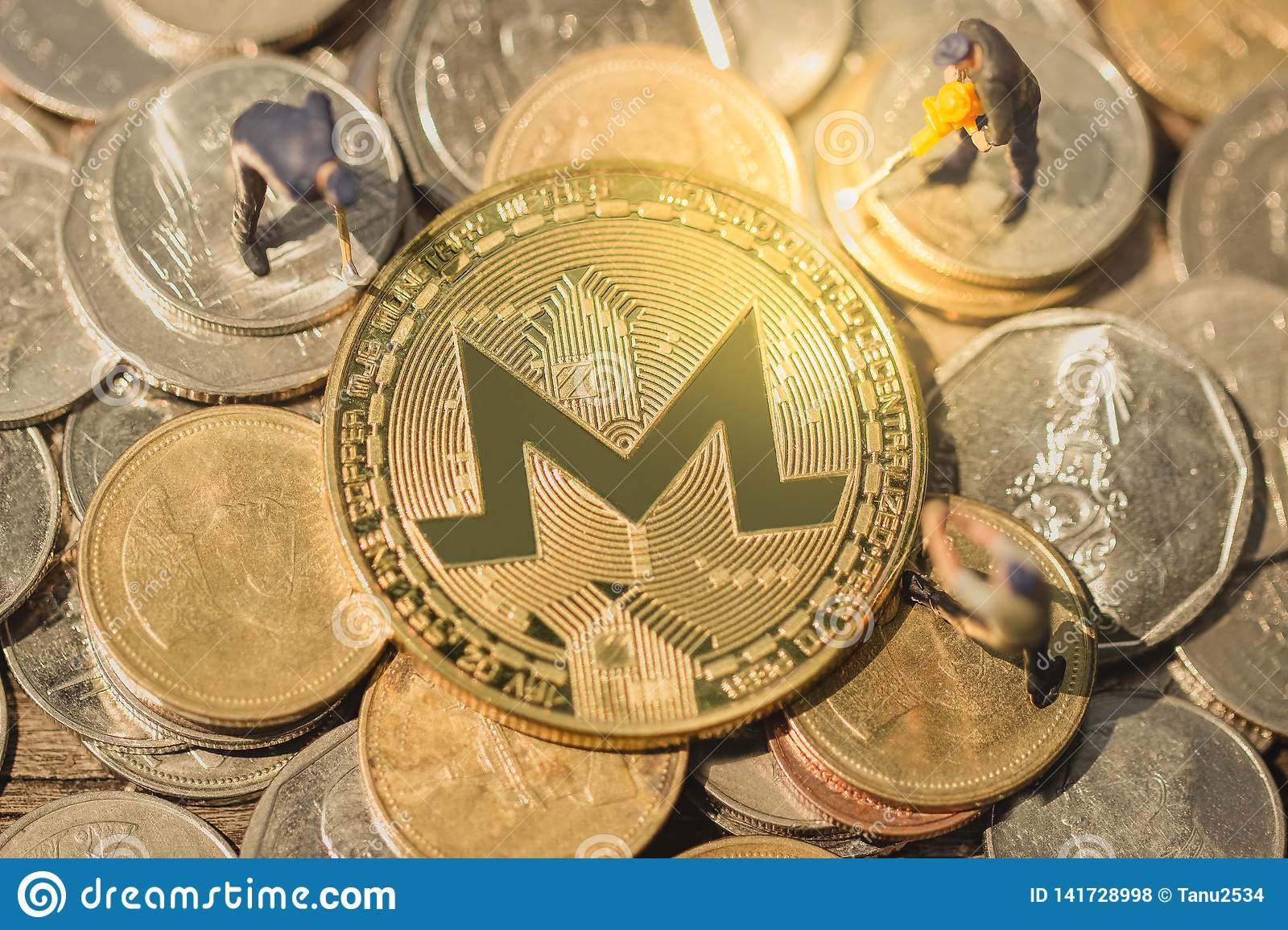 Monero Mining Pool And Mine XMR  Stock Photo - Image of