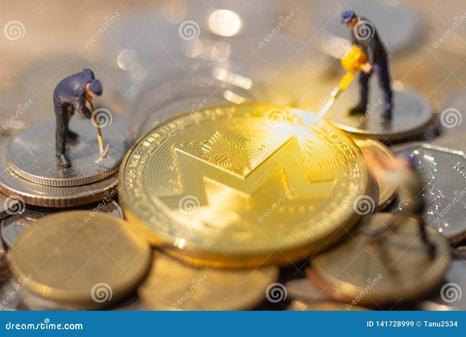 Monero Mining Pool And Mine XMR  Stock Image - Image of bitcoin