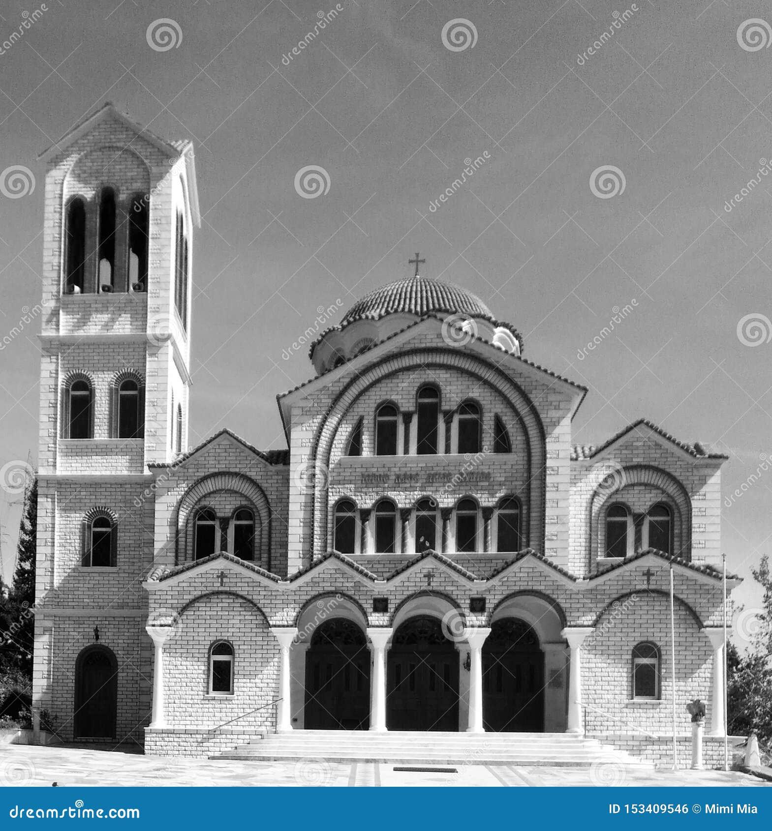 Monestory que constrói a arquitetura velha preta & branca