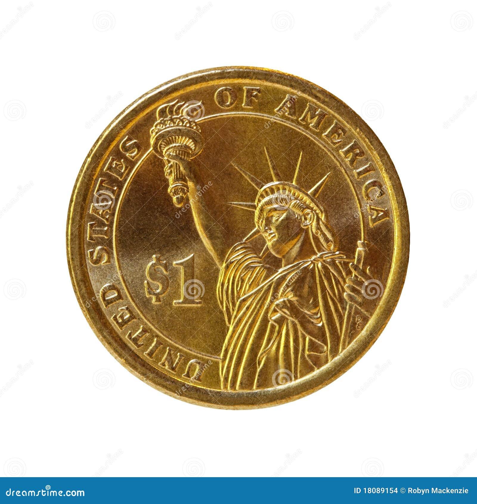 Moneta del dollaro (con il percorso)