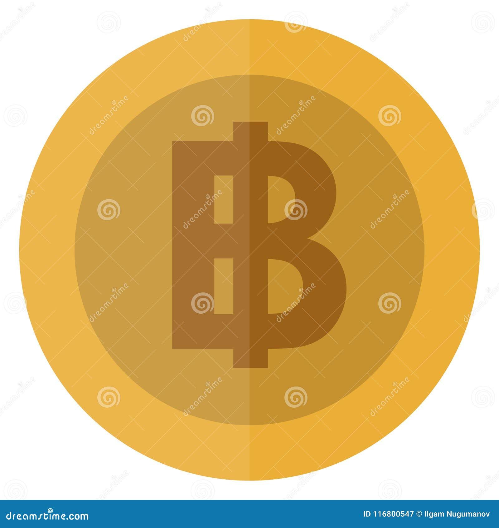 Moneta rotonda della Tailandia di valuta piana di baht Tailandese, valuta del casinò, moneta di gioco, illustrazione di vettore i