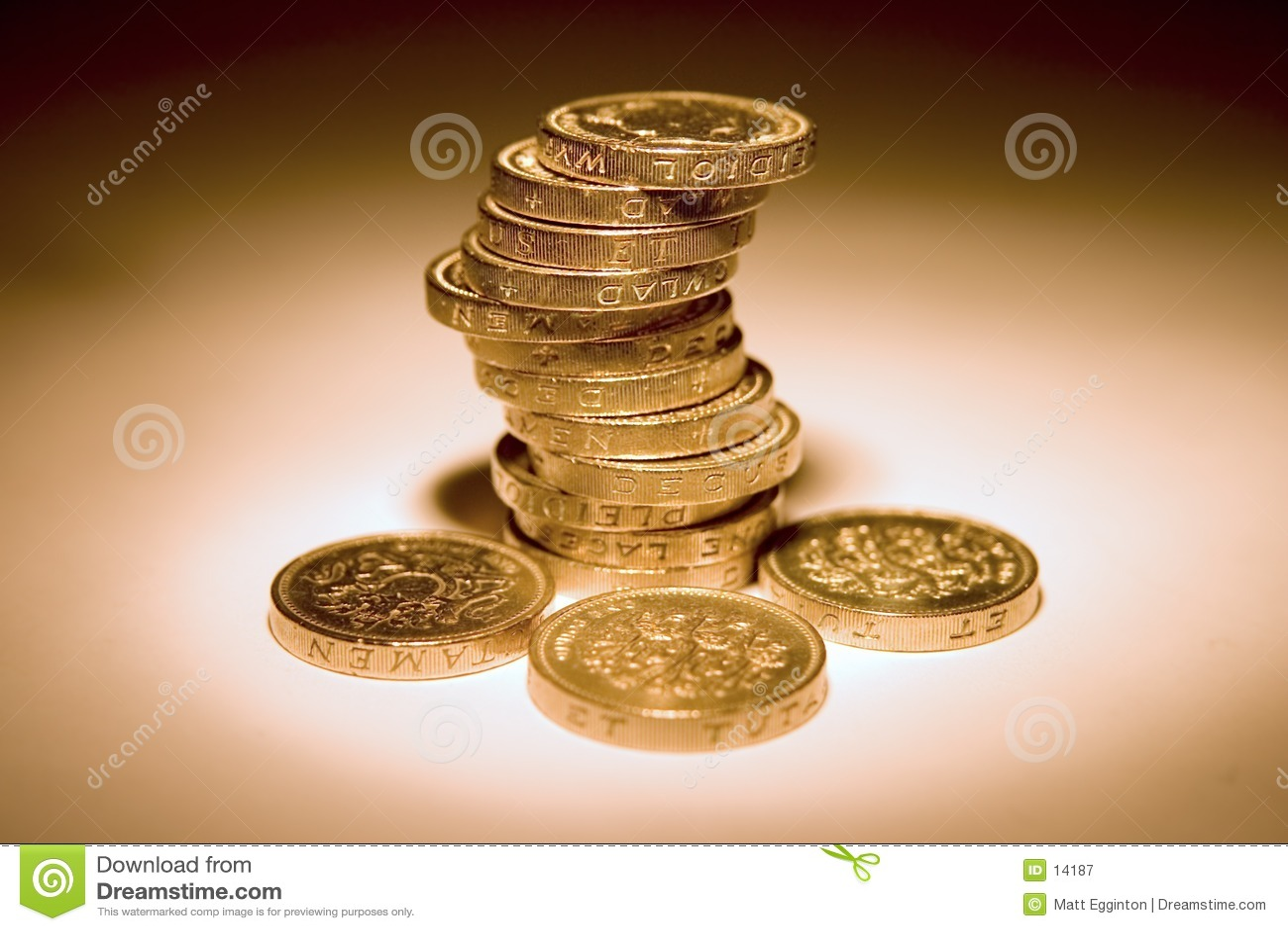 Download Monete BRITANNICHE immagine stock. Immagine di libbra, pila - 14187
