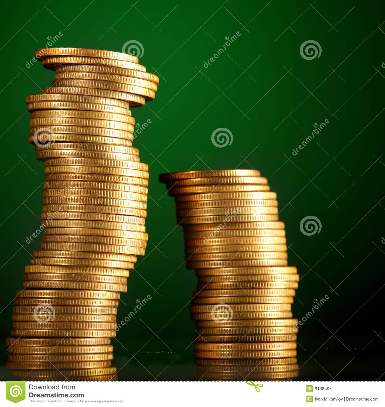 Monete su verde