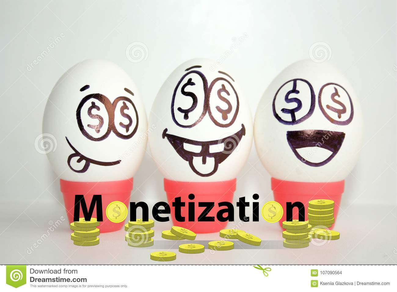 Monetization Concept Funny Stock Photo Image Of Concept