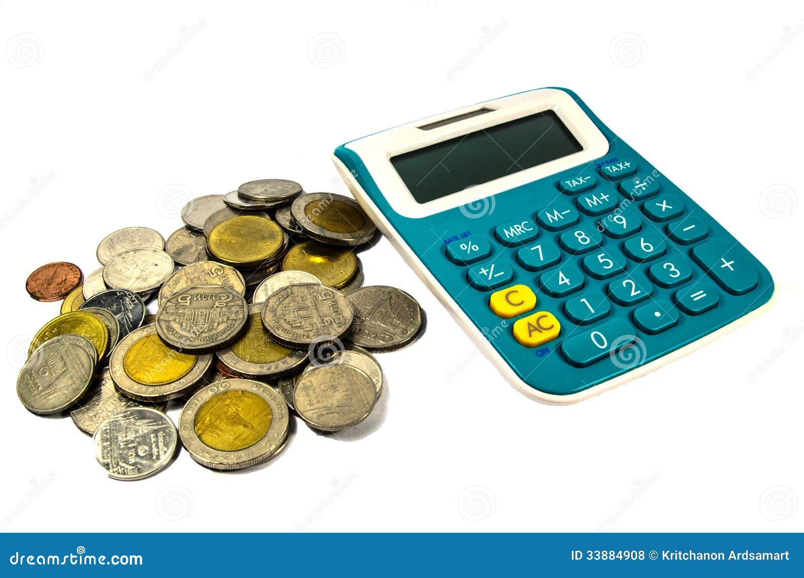 Monety i kalkulator