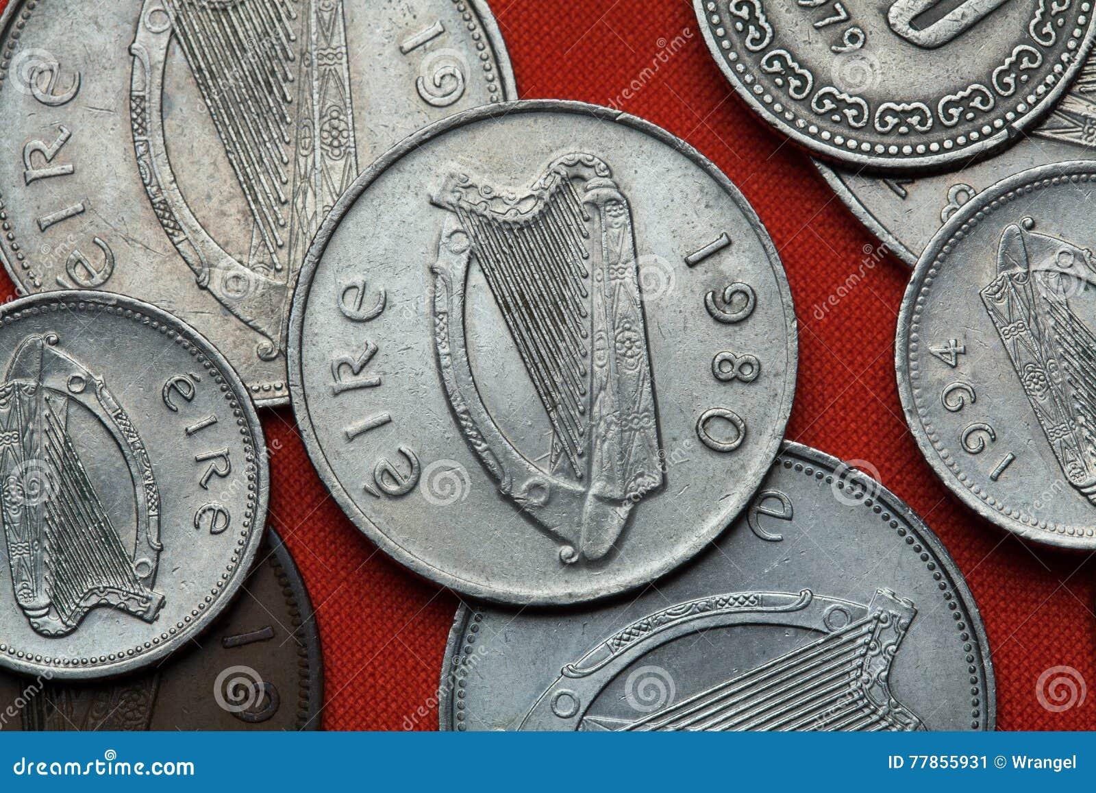 Monety Irlandia harp celtic