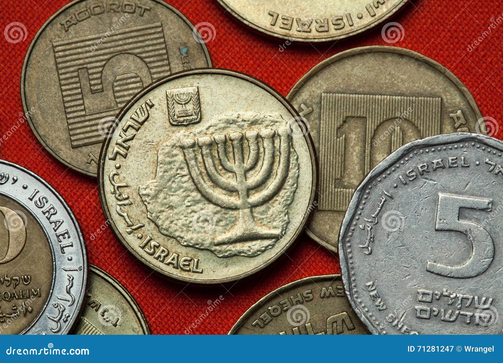 Monety Izrael menorah