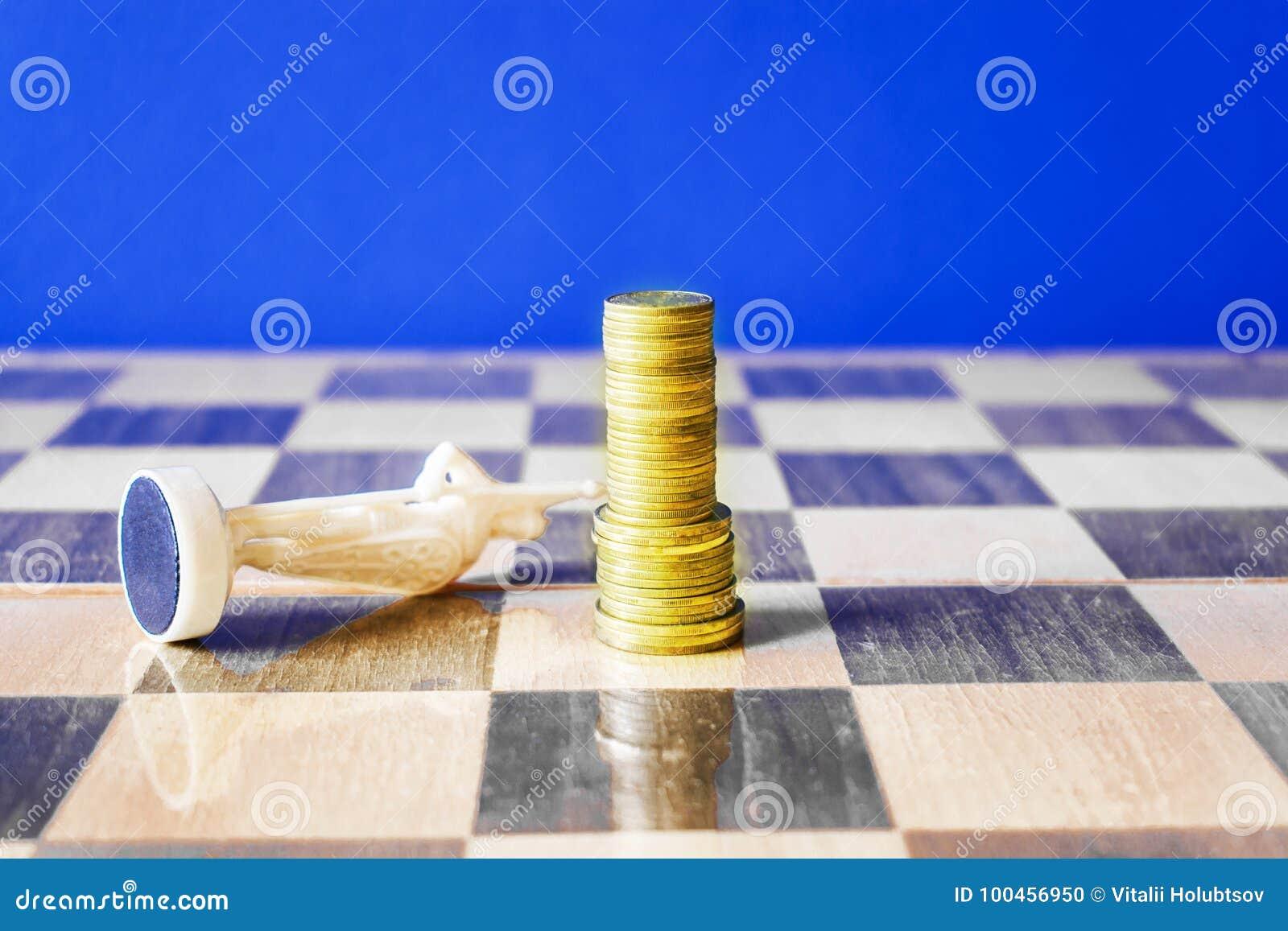 Monety tworzą jak królewiątko na chessboard
