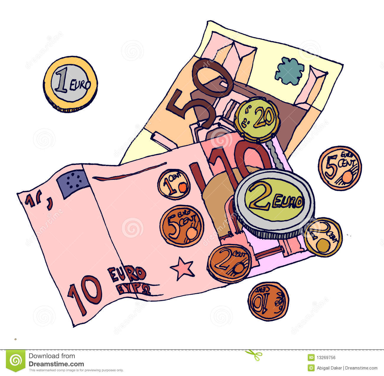 Money Stock Illustration Illustration Of Money Notes 13269756