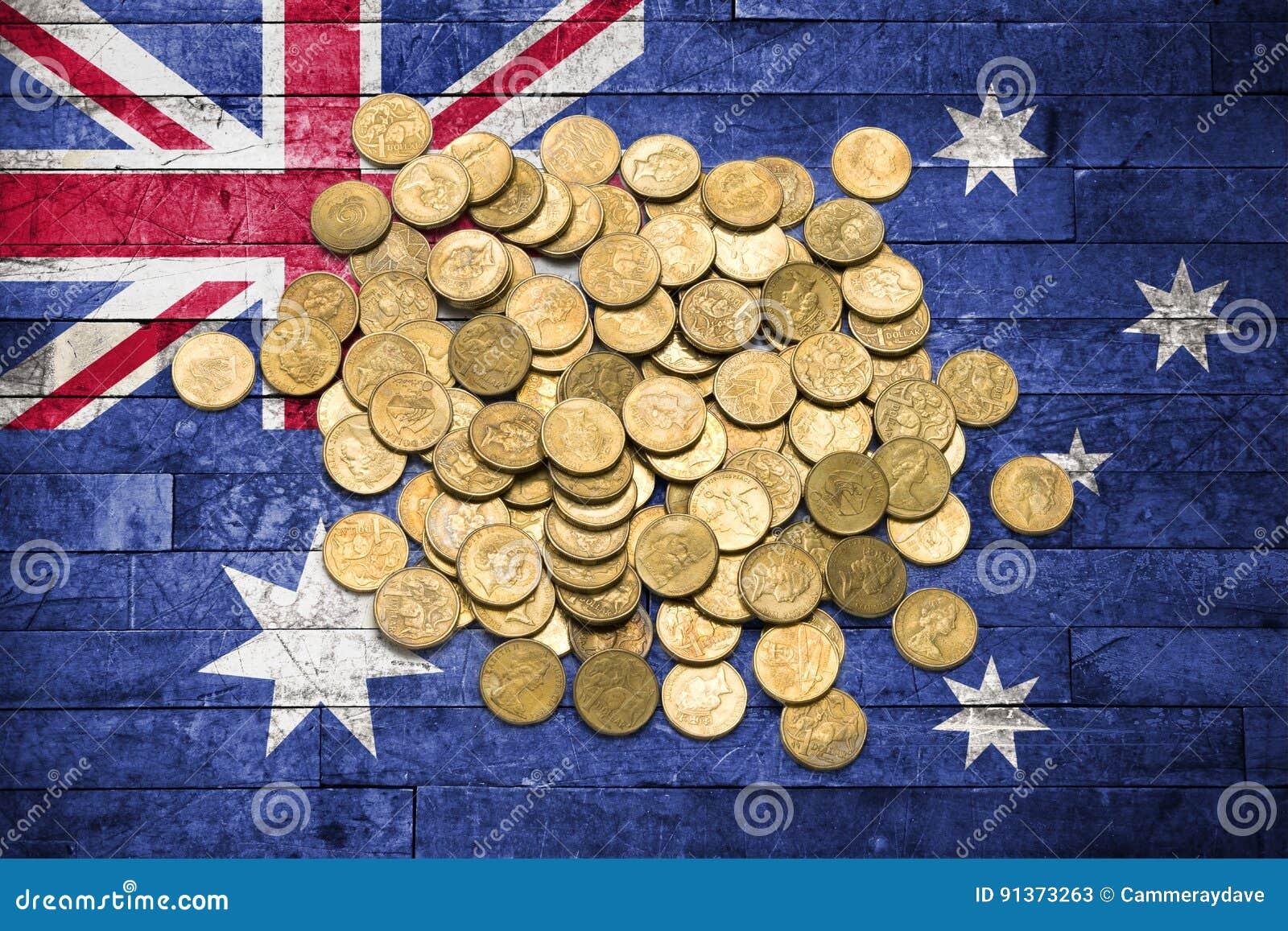 Money Australian Flag Business Coins