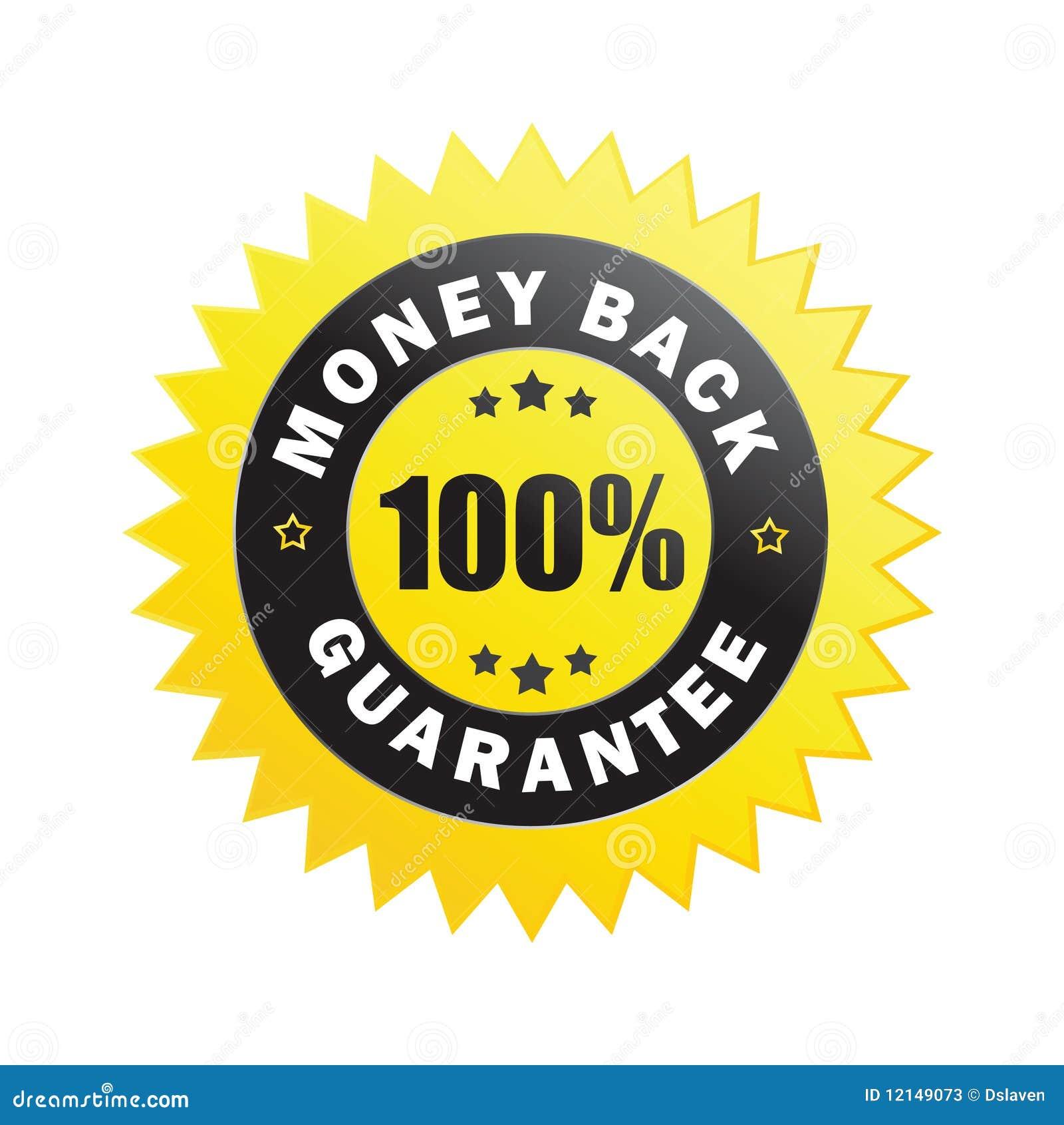 Money back guarantee sticker