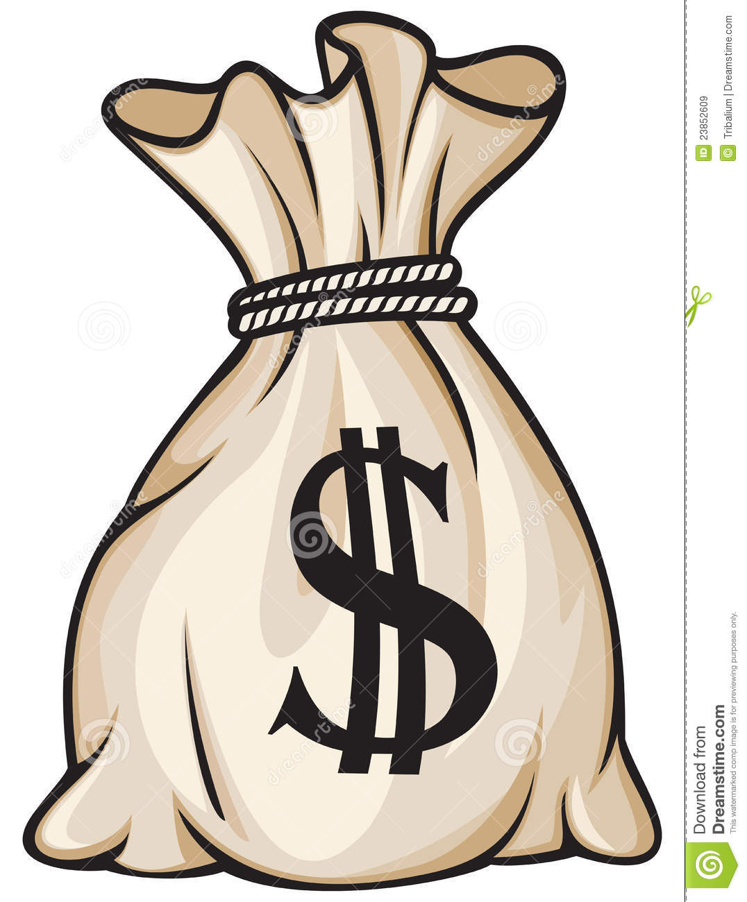 Money Bag Royalty Free Stock Images - Image: 23852609