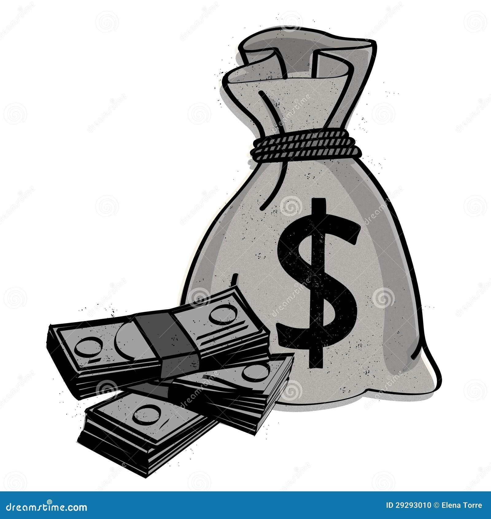 Money bag vector Stock Photo
