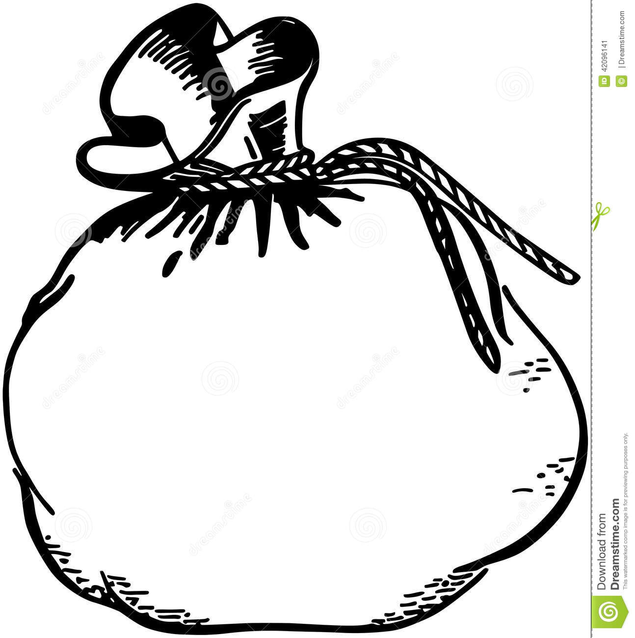 Line Art Money : Money bag stock vector illustration of clipart dollars