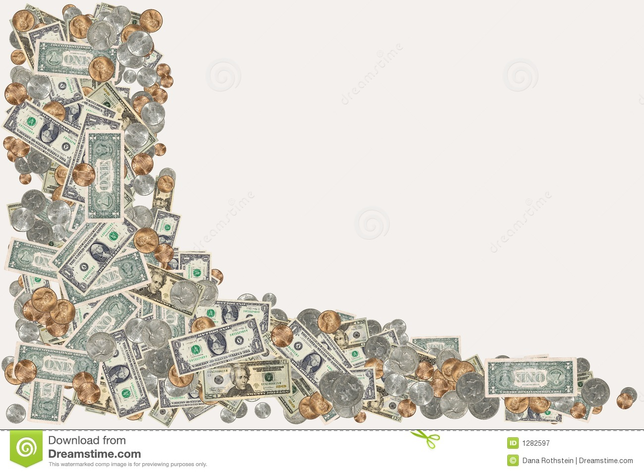 Money Border Royalty Free Stock Photography - Image: 1282597
