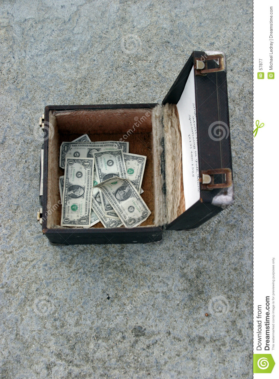 Money in a box